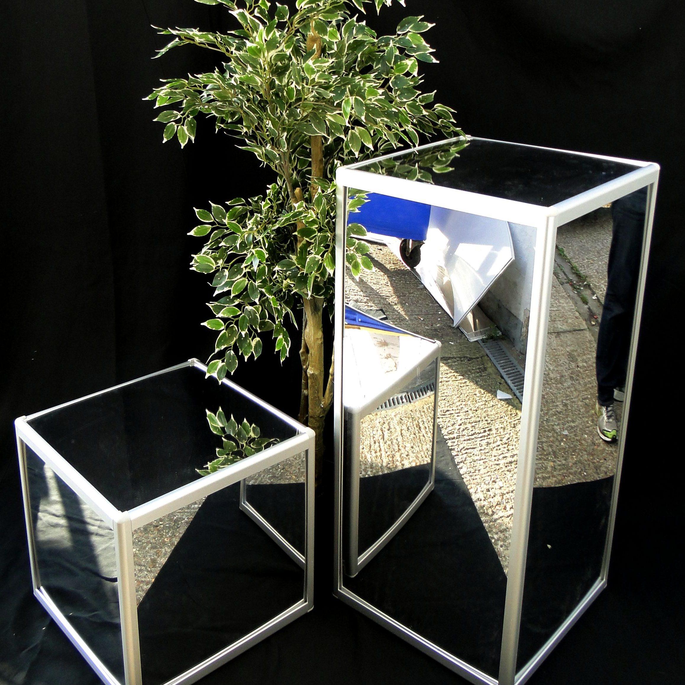 Mirror Poseur Tables